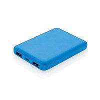Карманный внешний аккумулятор на 5 000 мАч, синий, Длина 8,8 см., ширина 6,2 см., высота 1,3 см., P324.765