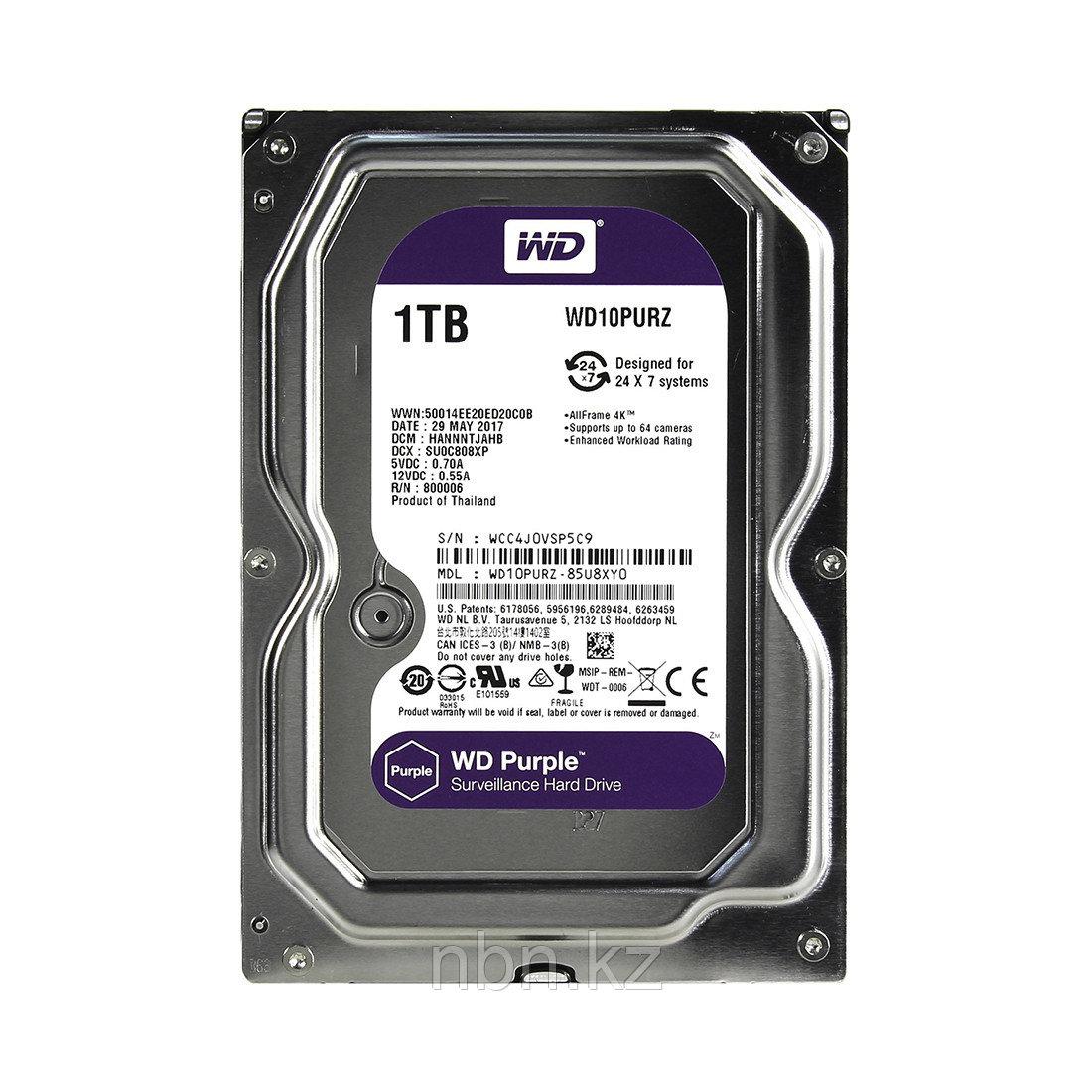 Жёсткий диск для видеонаблюдения Western Digital Purple HDD 1Tb WD10PURZ
