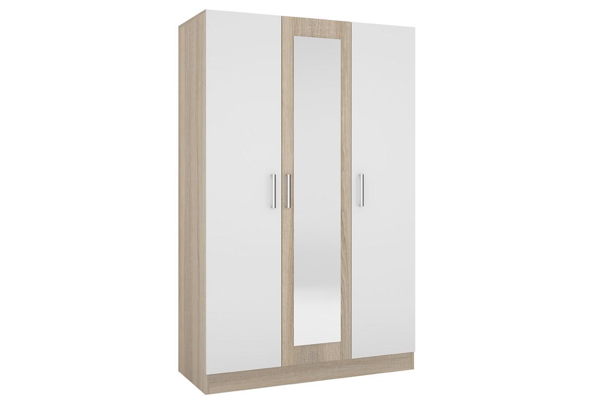 Шкаф для одежды 3Д Уют 1, Белый, Горизонт (Россия)