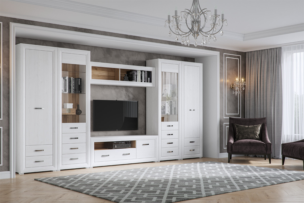 Комплект мебели для гостиной Мальта, Лиственница сибирская, БРВ Брест (Беларусь)