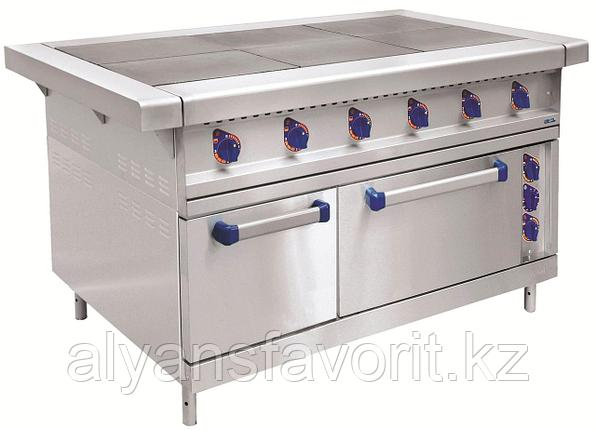 Плита электрическая ABAT ЭП-6ЖШ-К-2/1 шестиконфорочная с жарочным шкафом (полностью нерж, серия 900), фото 2
