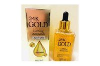 Антивозрастная сыворотка с золотом для увлажнения и упругости Mizac 24k Gold lifting Ampoule