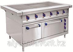 Плита электрическая ABAT ЭП-6ЖШ шестиконфорочная с жарочным шкафом (лицевая нерж, серия 900)