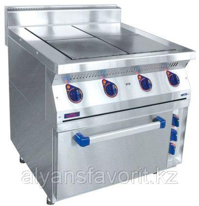 Плита электрическая ABAT ЭПК-47ЖШ четырехконфорочная с жарочным шкафом (полностью нерж, серия 700)