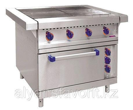 Плита электрическая ABAT ЭП-4ЖШ четырехконфорочная с жарочным шкафом (лицевая нерж, серия 900), фото 2