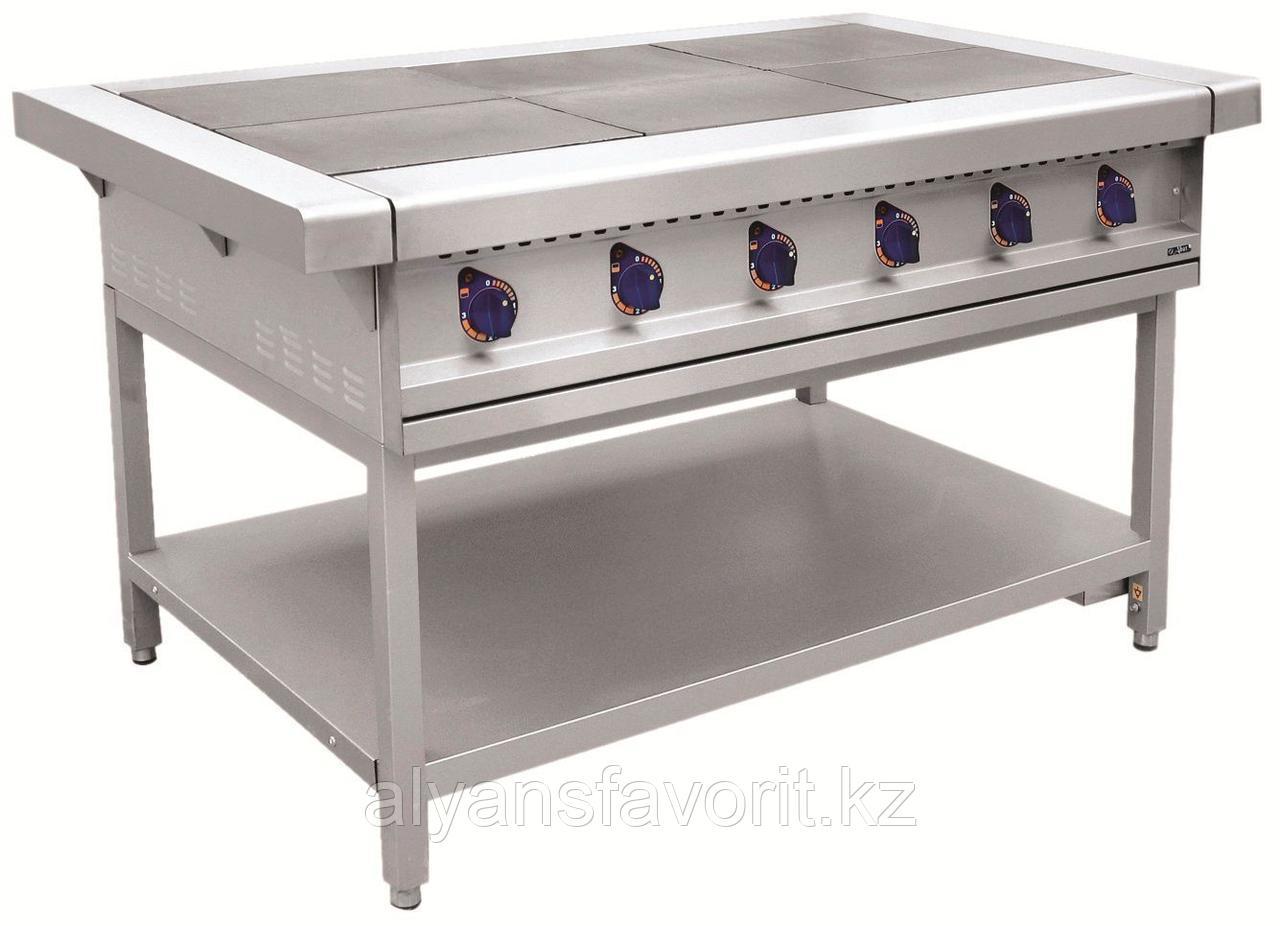 Плита электрическая ABAT ЭП-6П шестиконфорочная без жарочного шкафа (лицевая нерж, серия 900)