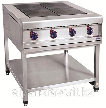 Плита электрическая ABAT ЭПК-48П четырехконфорочная без жарочного шкафа (полностью нерж, серия 900), фото 2