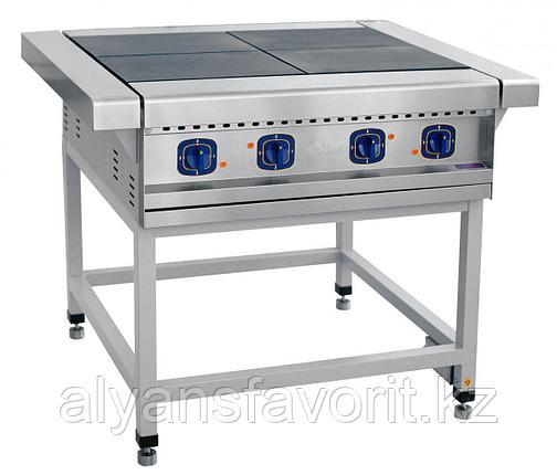 Плита электрическая ABAT ЭП-4П четырехконфорочная без жарочного шкафа (лицевая нерж, серия 900), фото 2