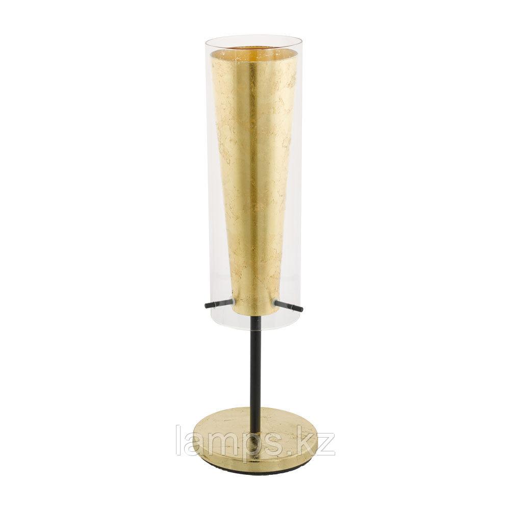 Светильник настольный PINTO GOLD, сталь, стекло