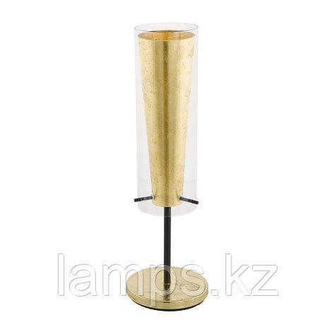 Светильник настольный PINTO GOLD, сталь, стекло, фото 2
