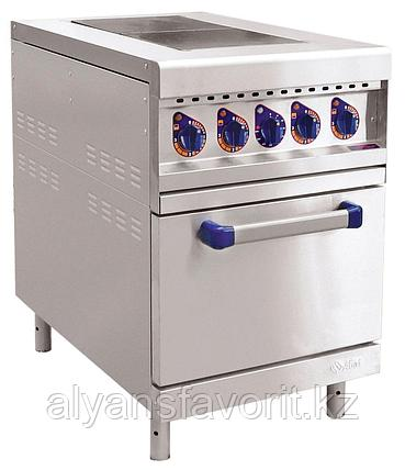 Плита электрическая ABAT ЭП-2ЖШ двухконфорочная с жарочным шкафом (лицевая нерж, серия 900), фото 2