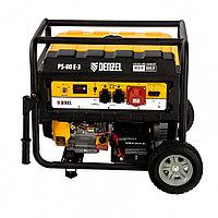 Генератор бензиновый PS 80 E-3, 6,5 кВт, 400В, 25л, электростартер// Denzel, фото 1