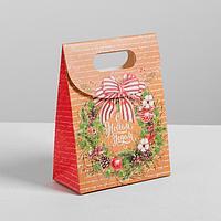 Пакет с клапаном «Теплых новогодних вечеров», 18 х 32 х10 см