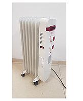 Масляный радиатор Gipfel 7 секций белый с вентилятором