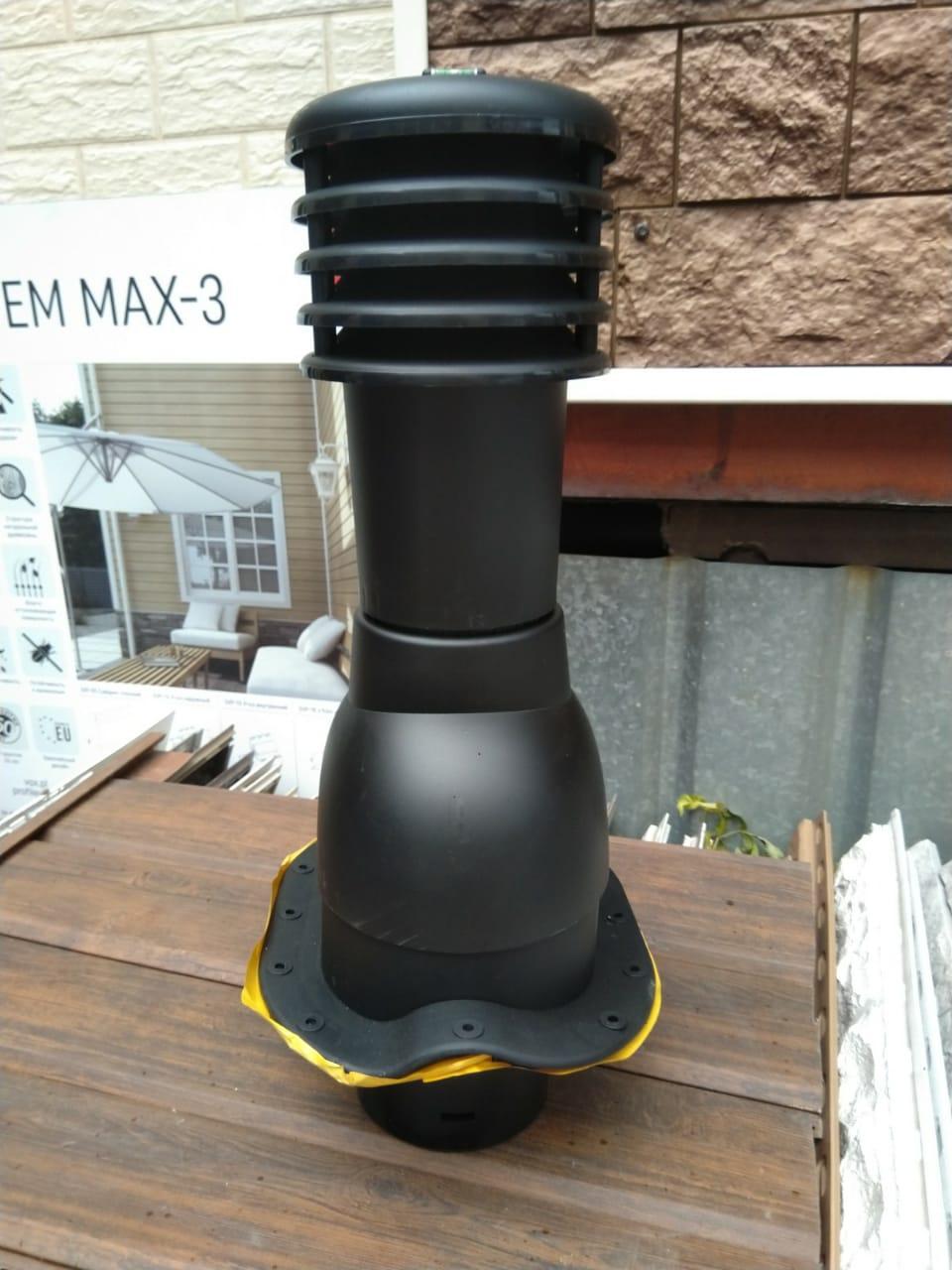 Вентиляционные выходы для профиля СуперМонтерей, Монтерей  KBN 125/495 цвет Черный (9005)