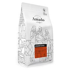 Бразильский Сантос Кофе в зернах 500г