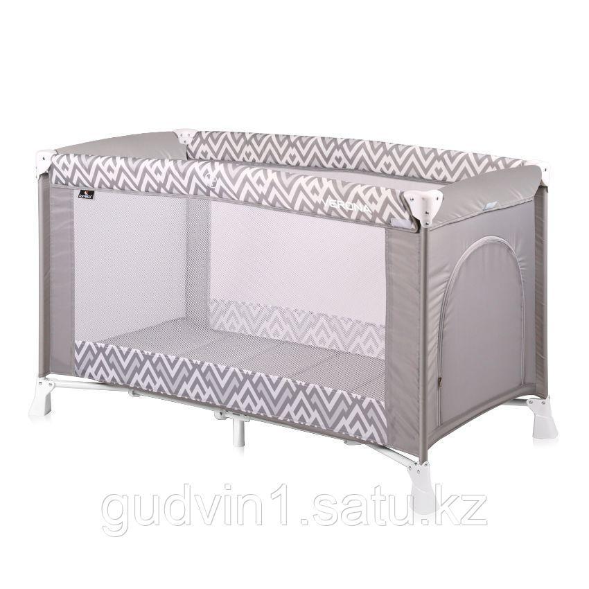 Детская кровать-манеж Bertoni VERONA 1 Серый / Grey Lines 1941