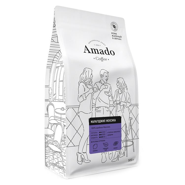 Марагоджип Мексика Кофе в зернах 500г