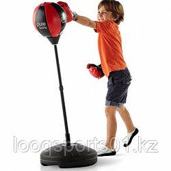 Детская боксерская груша напольная и перчатки (чемпионский набор) 70 до 100 см