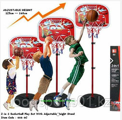 Детский игровой баскетбольный набор Тачки 2 (140см) бесплатной доставкой
