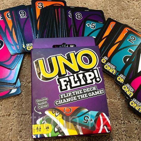 Игра настольная UNO Flip, Двусторонние карточки (Mattel Games)