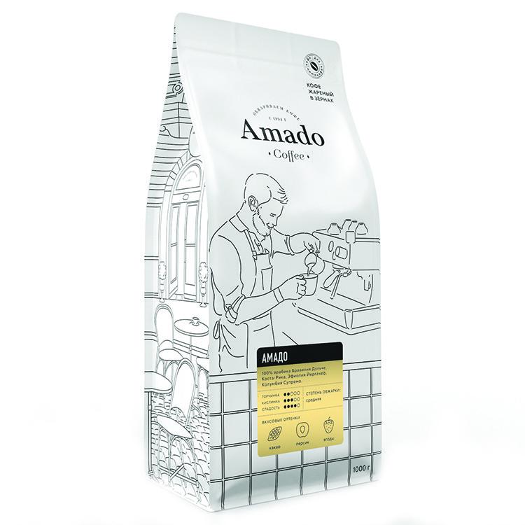 Амадо Кофе в зернах 1000г