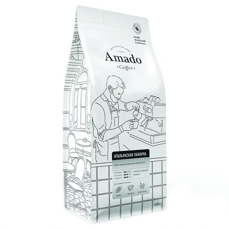 Итальянская обжарка Кофе в зернах 1000г