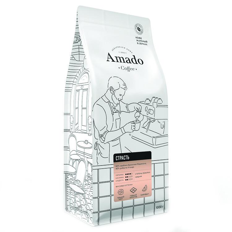 """Кофе в зернах """"Страсть"""" Арабика 60%, 500гр"""