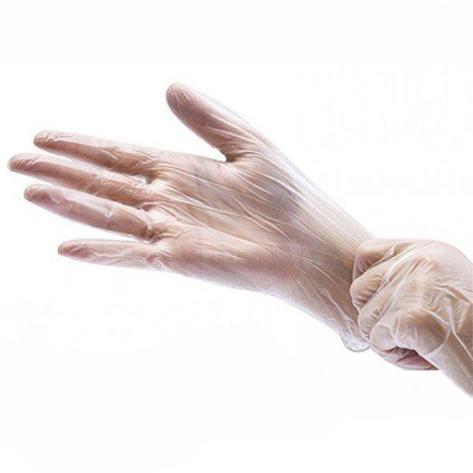 Перчатки виниловые одноразовые. Неопудренные. Прозрачные., фото 2