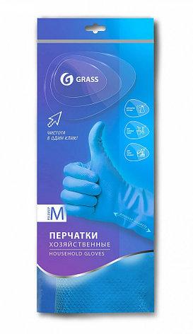Перчатки хозяйственные латексные в инд. упаковке,пара.  Синие., фото 2