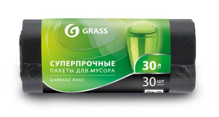 Мешок для мусора ПНД в рулоне 30 л. 55*46 10 мкр. (черный) (рул. 30 шт)