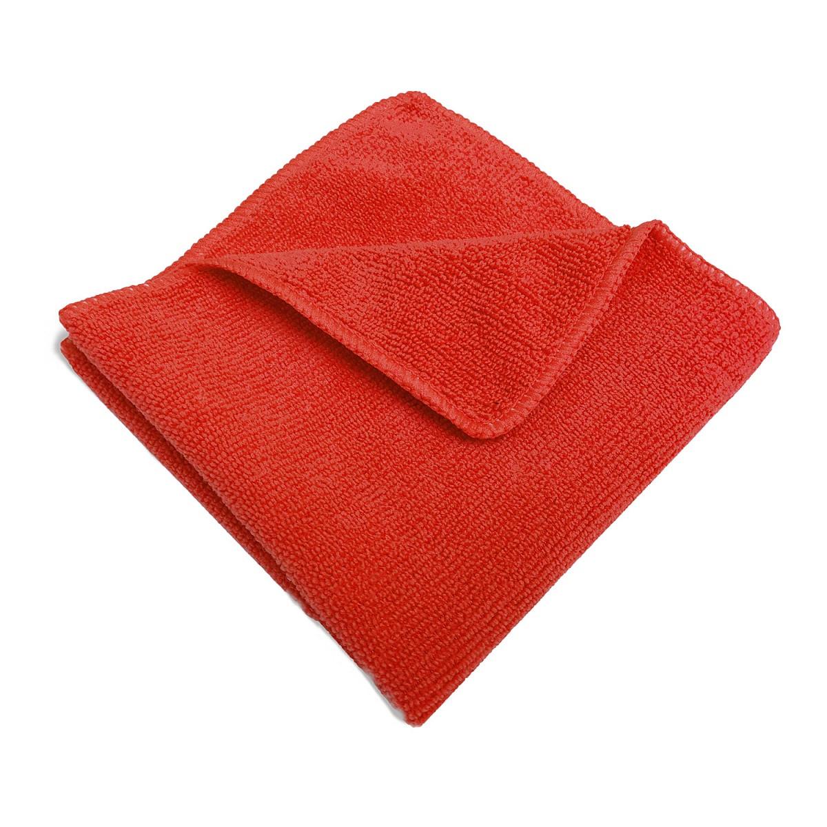 Салфетка микрофибра 220 г/м 30*30 (300 шт) короб красная