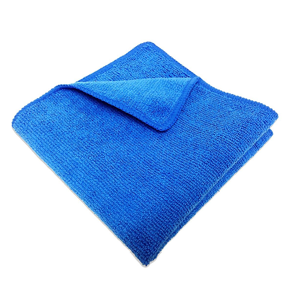 Салфетка микрофибра 220 г/м 30*30 (300 шт) короб синяя