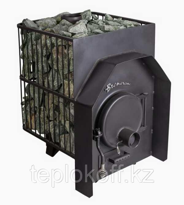 Печь банная Бренеран АОТ - 12 в металлической решетке до 25м3