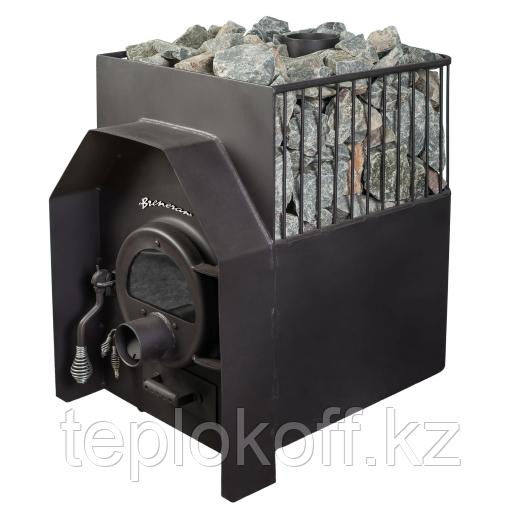 Печь банная Бренеран АОТ - 12 в 1/2 металлической решетке со стеклом до 25м3