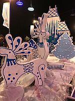 Уличные новогодние декорации из пенопласта