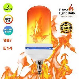 Лампа LED Flame Effect с имитацией пламени огня [9, 15 W] (Е14 / 9W)