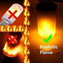 Лампа LED Flame Effect с имитацией пламени огня [9, 15 W] (Е27 / 15W), фото 3