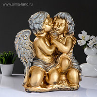 "Фигура ""Ангел и Фея сидя"" большой бронза/серебро 24х35х41см"