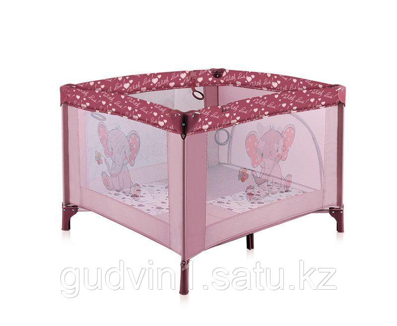 Игровой манеж Lorelli Play STATION Розовый / Pink ELEPHANT 1801