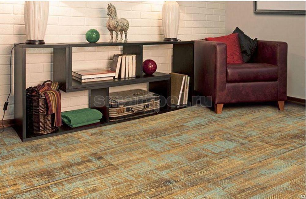 Пробковый пол Corkstyle Wood XL Color Azurit Solar