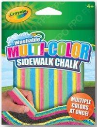 Смываемый мел для рисования на асфальте многоцветный 5 штук