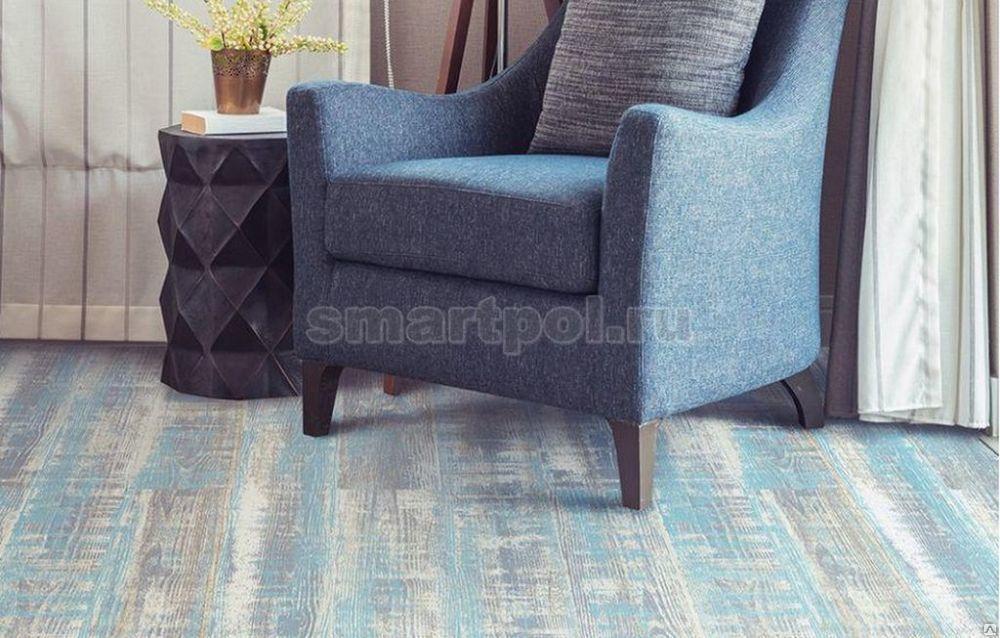 Пробковый пол Corkstyle Wood XL Color Lazurite Blue