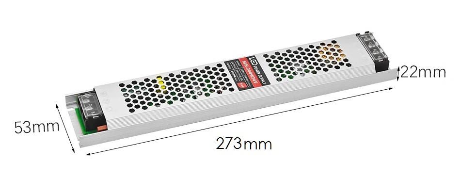 Блок питания 200W(16.7A) для светодиодной ленты (узкий) DC12V, IP20