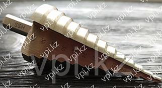 Сверло ступенчатое по металлу, Р6М5, 4-39мм, 13 ступеней, БАРС