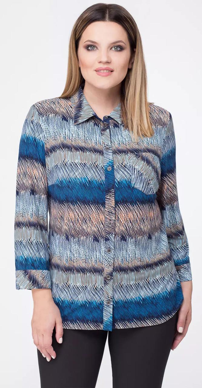 Блузка Дали-2175, голубой, 56