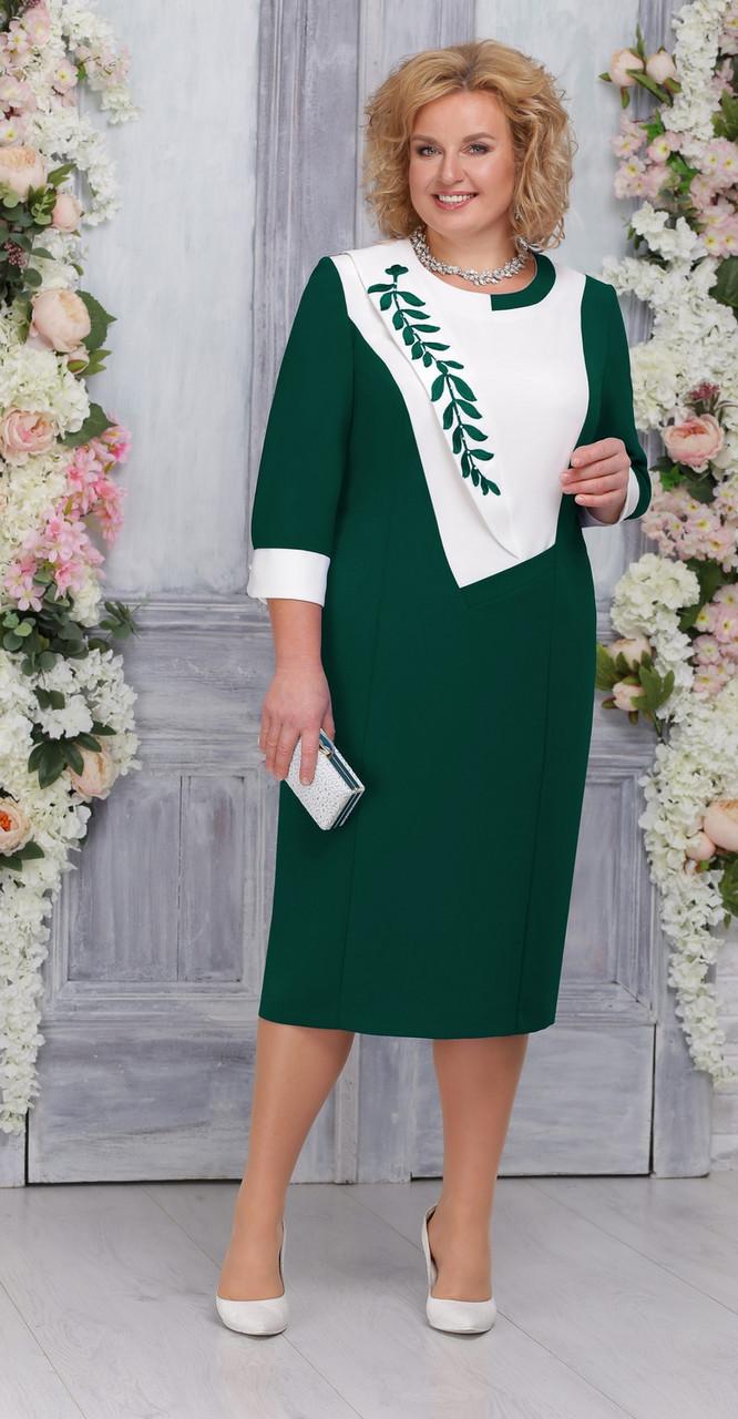 Платье Ninele-2224, изумрудный, 56