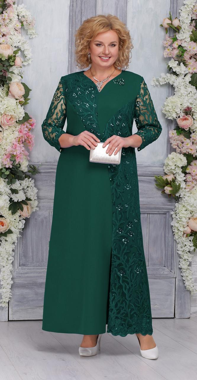 Платье Ninele-5743, изумрудный, 54