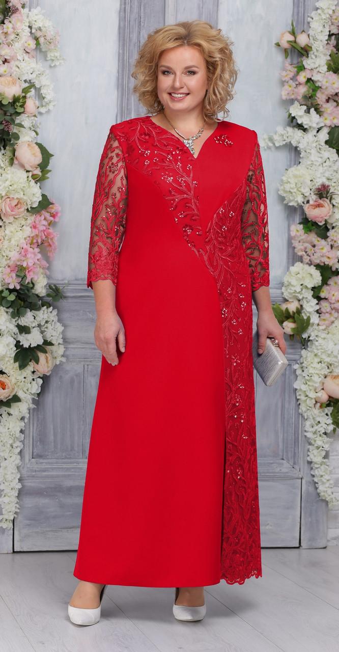Платье Ninele-5743/1, красный, 54