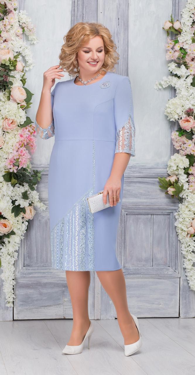 Платье Ninele-7259, голубой, 54